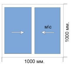 Готовое окно 1000*1000 мм Provedal раздвижка