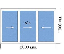 Готовое окно 1000*2000 мм Provedal раздвижка