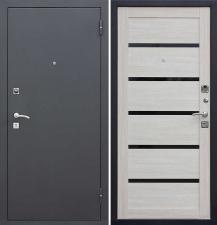Дверь металлическая Гарда Муар Царга цвет лиственница мокко