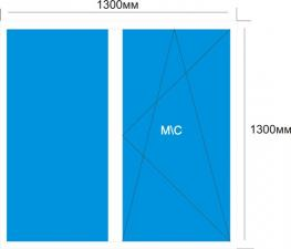 Готовое окно Melke Smart 1300*1300 мм